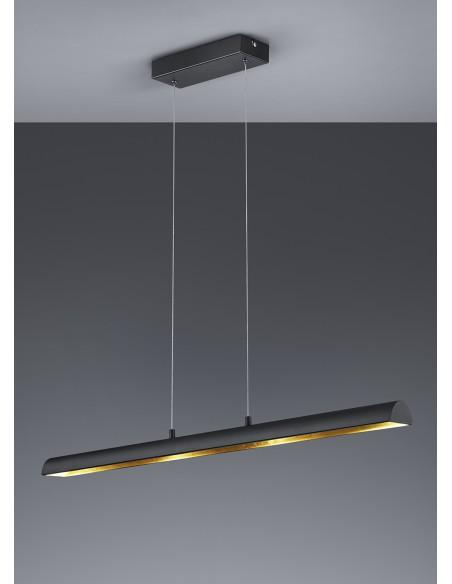 Sospensione Ramiro Led Dimmerabile Nero L100 cm Trio Lighting