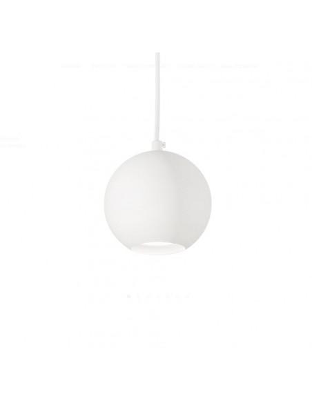 Sospensione Sfera Metallo Bianco Ø11cm Mr Jack SP1 Small Ideal Lux