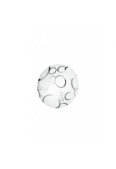 Plafoniera Bubble con decoro cromo Ø30  Fan Europe