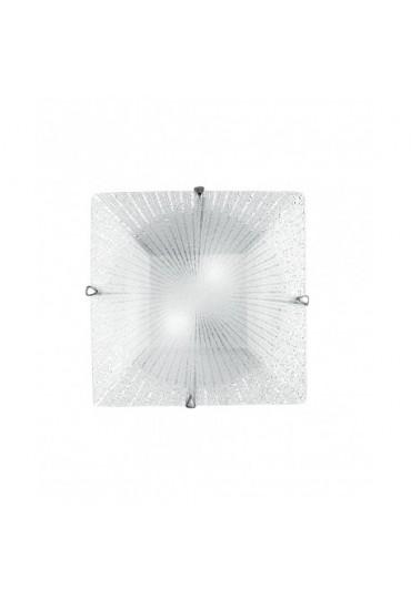 Plafoniera Iside in vetro diamantato 30x30 Fan Europe