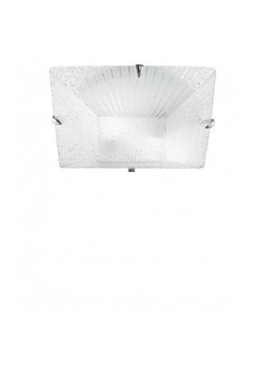Plafoniera Iside in vetro diamantato 40x40 Fan Europe
