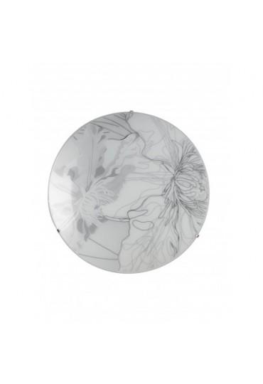 Plafoniera Led Matisse vetro bianco-grigio Ø40 Fan Europe