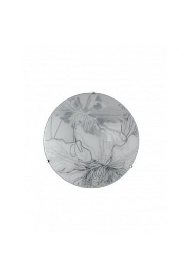 Plafoniera Led Matisse vetro bianco-grigio Ø30 Fan Europe
