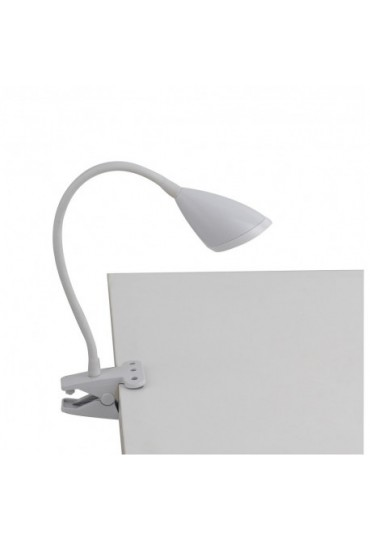 Lampada da scrivania led con pinza hegel fan europe colore bianco - Lampada da tavolo con pinza ...