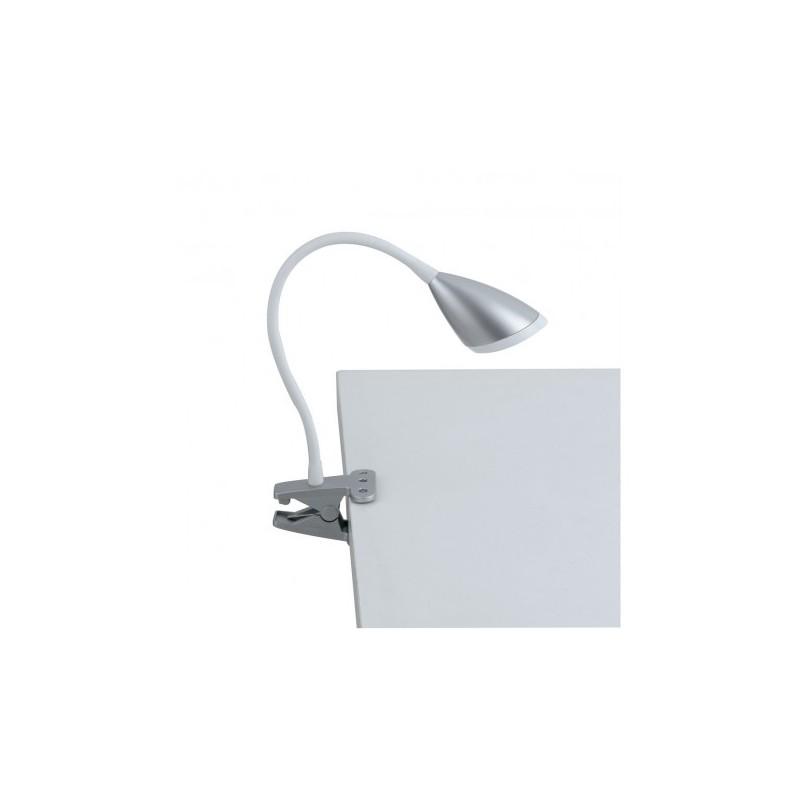 Lampada da scrivania led con pinza hegel fan europe colore argento - Lampada da tavolo con pinza ...