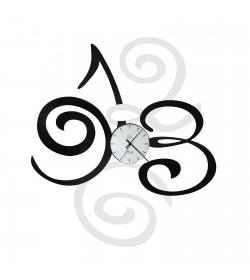 Orologio Filomena nero/bianco Arti e Mestieri