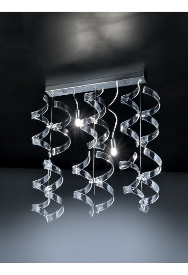 Sospensione Astro 206.232 Metal Lux cromo 12 vetri