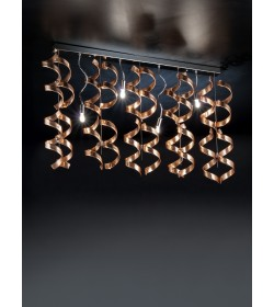 Sospensione Astro 206.254 Metal Lux cromo 20 vetri