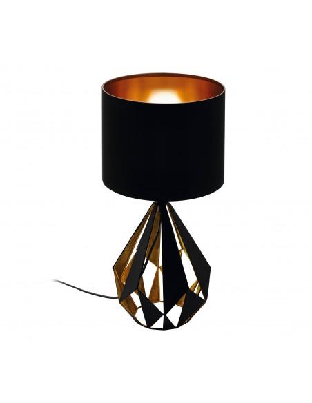 Lampada Da Tavolo Carlton 1xe27 Nero E Rame O25 Cm Eglo