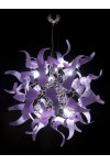 Sospensione Diva 214.180 Metal Lux cromo 48 vetri 7 colori