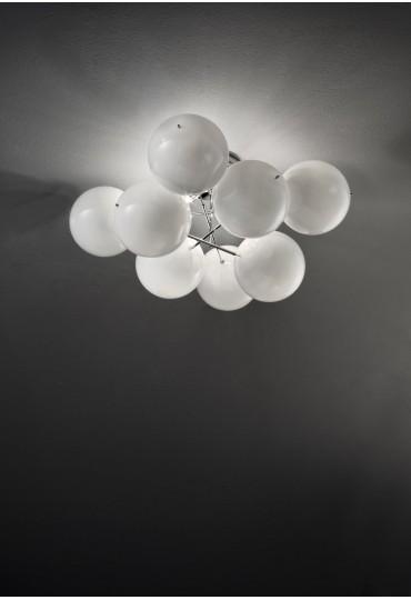 Plafoniera Atom 255.360 Metal Lux 8 sfere cristallo 6 colori